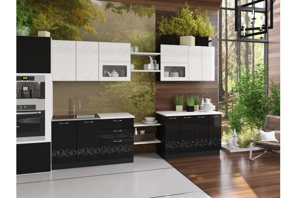 Кухня прямая Артем-Мебель Адель Флора