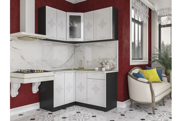 Кухня угловая Артем-Мебель Жасмин Камелия