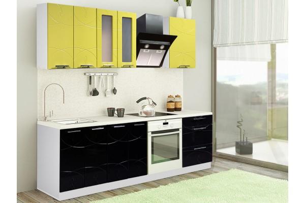 Кухня линейная Артем-Мебель Оля Вираж
