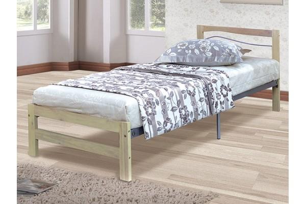 Кровать подростковая Юниор J2 беленый дуб, с основанием