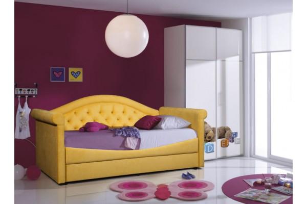 Кровать-тахта Grand Manar Жасмин с каретной стяжкой (Детская)