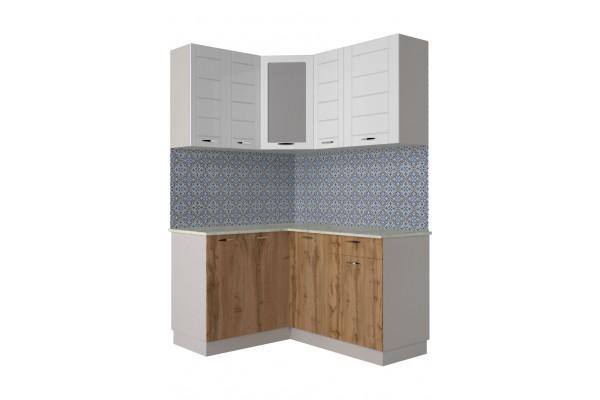 Кухня угловая Артем-Мебель Жасмин белый-вотан