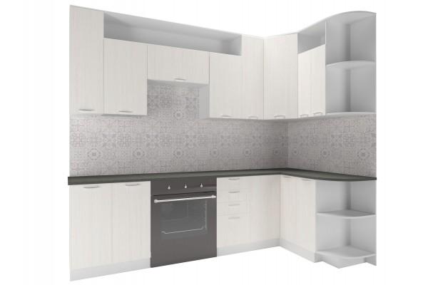 Кухня угловая Артем-Мебель Виола сосна арктическая